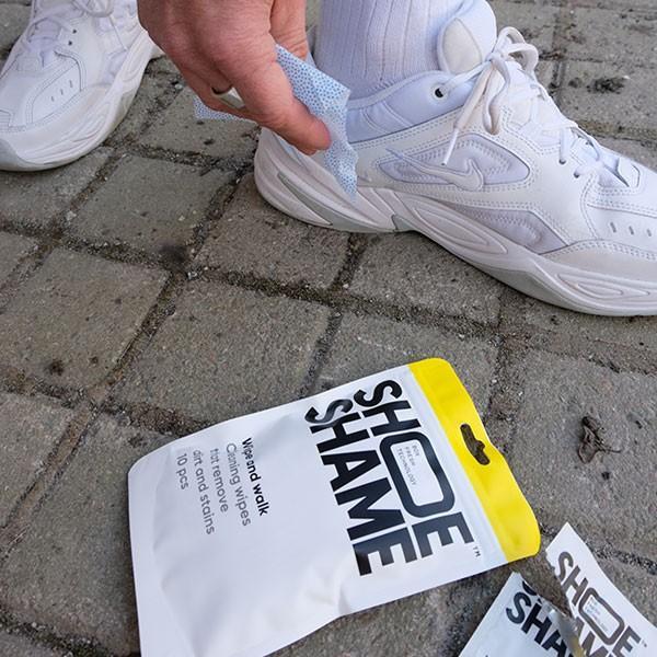 スニーカークリーナー シューシェイム ワイプ&ウォーク クリーニングワイプ シューケア用品 シュークリーナー 靴磨き 10枚入 SHOE SHAME Wipe and walk digstore 04