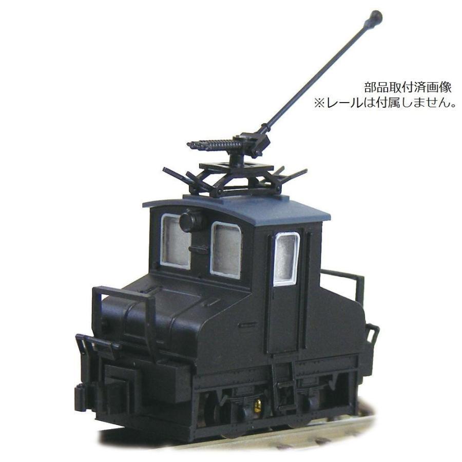 津川洋行 Nゲージ 車両シリーズ 銚子電気鉄道 デキ3 電気機関車(90周年トロリーポール仕様/車体色:黒/動力付) 14044