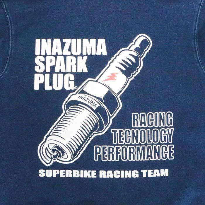 エアフィッシュ AirFish INAZUMA SPARK PLUG フルジップフーディ パーカ デニム FH-ISP-21|dimension-3|04