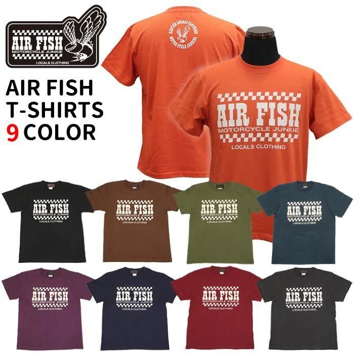 エアフィッシュ AirFish エアフィッシュ ロゴ Tシャツ T-AF-20|dimension-3