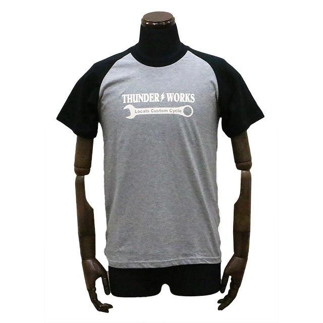 エアフィッシュ AirFish THUNDER WORKS Tシャツ ヘザーグレー/ブラック|dimension-3
