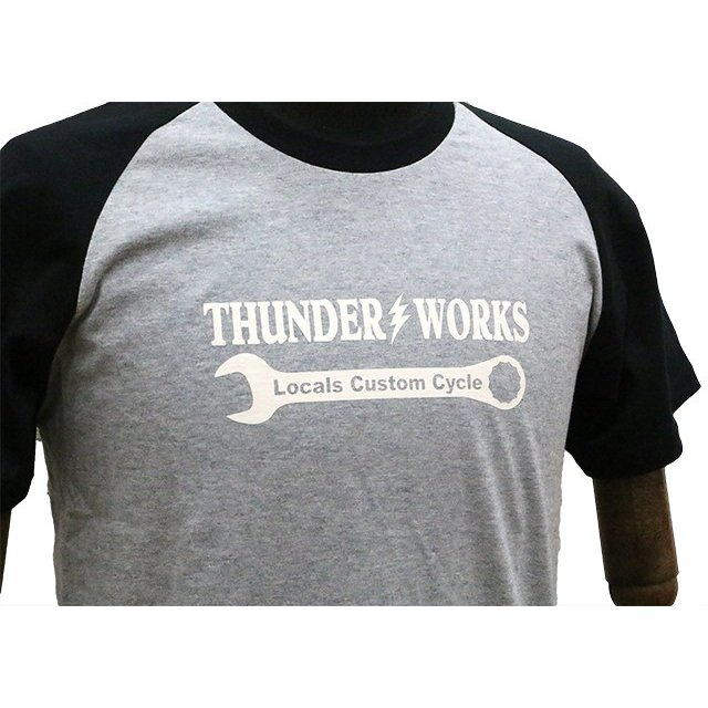 エアフィッシュ AirFish THUNDER WORKS Tシャツ ヘザーグレー/ブラック|dimension-3|03