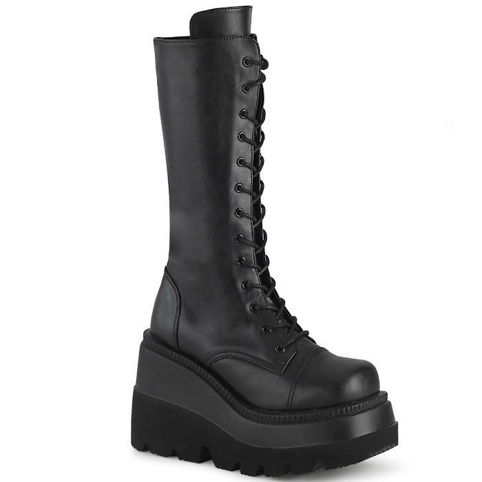 最先端 取寄せ靴 取寄せ靴 DEMONIA 黒 デモニア ショートブーツ ブラック 黒 ブラック ビーガンレザー 大きいサイズあり, ギフトのブロア:871ab5c4 --- fresh-beauty.com.au