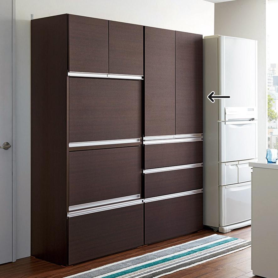 組立不要!家電を隠せるキッチン収納シリーズ 食器棚幅78cm 549529