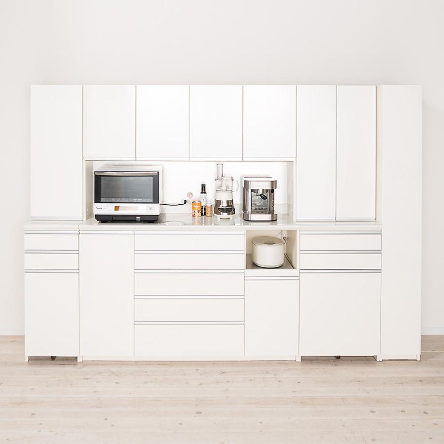 家電が使いやすいハイカウンター奥行50cm 食器棚高さ203cm幅40cm/パモウナDQ-400KL DQ-400KR 549234