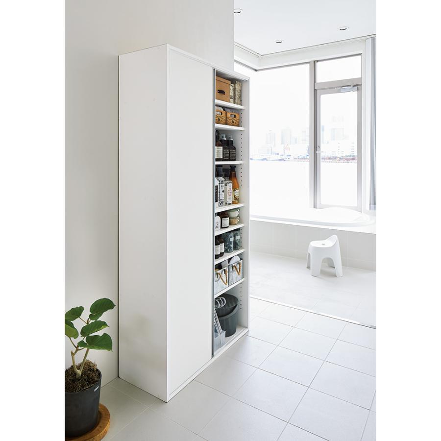 家具 収納 トイレ収納 洗面所収納 サニタリー片引き戸収納庫 幅90cm 551621