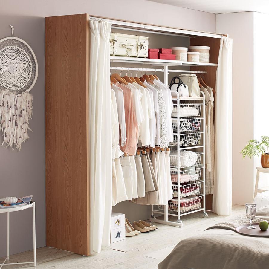 家具 収納 衣類収納 クローゼットハンガー カバー Elric/エルリック カーテン付きクローゼット ハンガー 幅145·250cm H81905