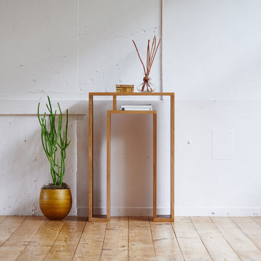SHOJI ショージ オケージョナルテーブル 幅57高さ86cm コンソールテーブル[abode(アボード)/デザイン:ウー・バホリヨディン] 695101