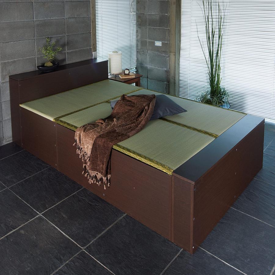 ユニット畳シリーズ 収納ベッドセット 幅120奥行215cm 高さ45cm(本体高さ70cm) 713442