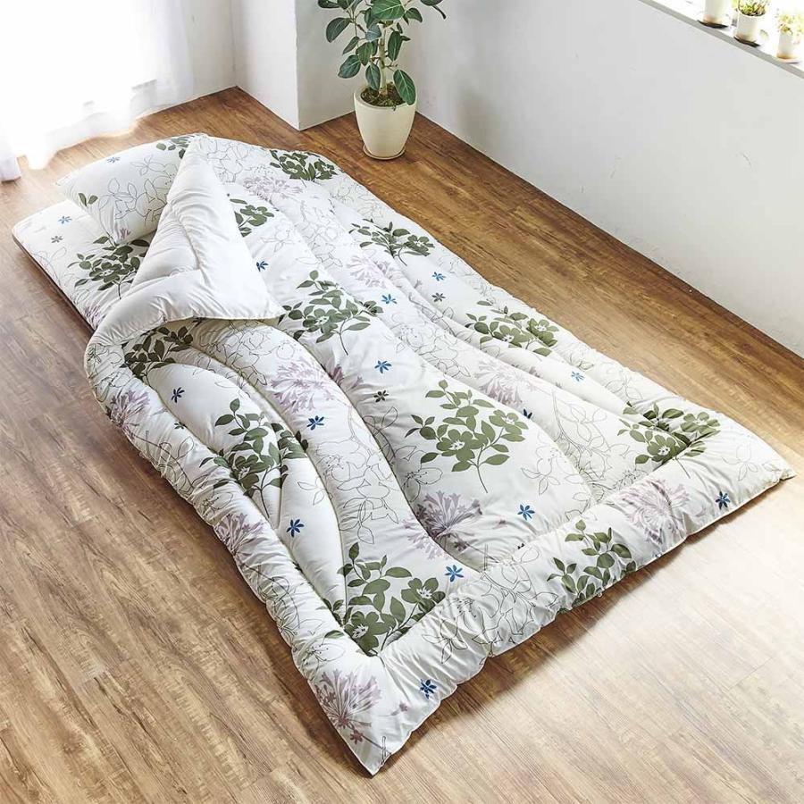 セミダブル(新 軽量&しっかり敷布団シリーズ お得な掛け+敷き+枕セット) 706909