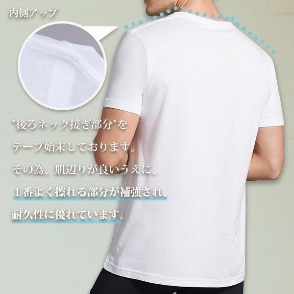 丸首コットンTシャツ 綿100% メンズ半袖 白い 白 無地 ホワイト おすすめ M L LL 直facオリジナル商品 direct-factory 03