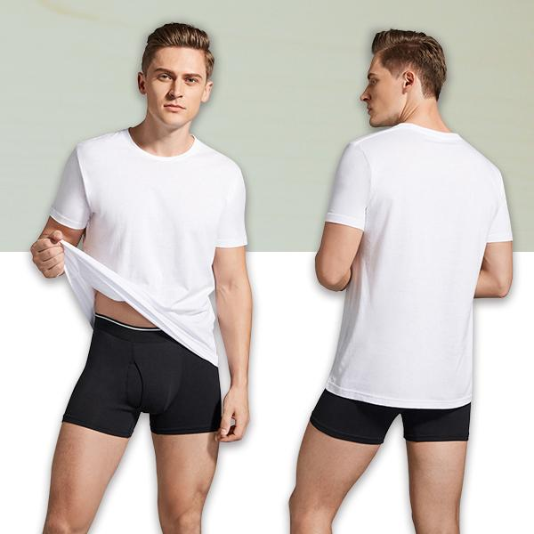 丸首コットンTシャツ 綿100% メンズ半袖 白い 白 無地 ホワイト おすすめ M L LL 直facオリジナル商品 direct-factory 07