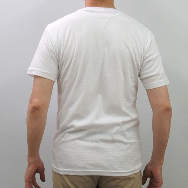 メンズ半袖Tシャツ 吸水速乾 Vネック 鹿の子編み  ホワイト スポーツ 作業着 M L LL|direct-factory|04