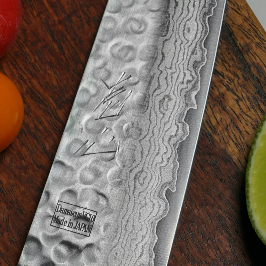 包丁 牛刀 180mm V金10号 ダマスカス ステンレス 6寸 一心刃物 関市 日本製|discovery-shop|03