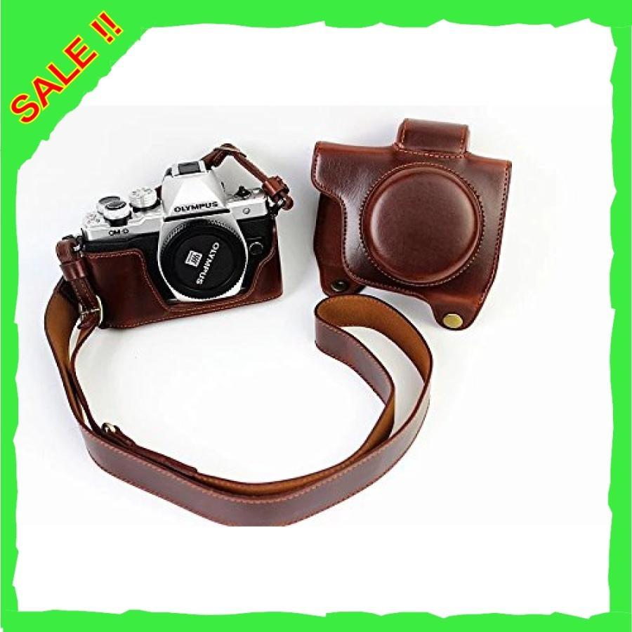 オリンパス OM-D E-M10 Mark III OM D E M10 Mark III 14-42mm カメラケース、koowl 手で作った最高級のpu革の全身カメラ保護殻|diva0210|02