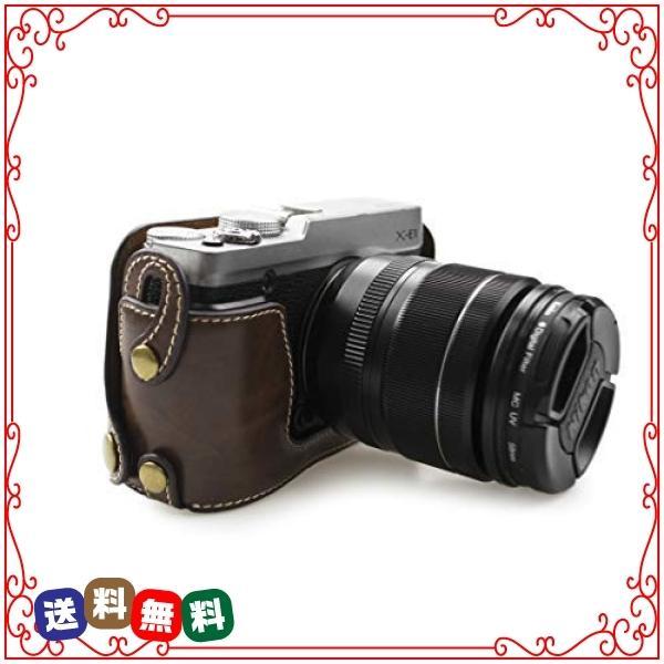 kinokoo FUJIFILM 富士フイルム X-E1 X-E2専用オープナブルタイプ ボディケース バッテリーの交換でき(コーヒー)|diva2