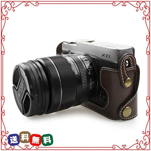 kinokoo FUJIFILM 富士フイルム X-E1 X-E2専用オープナブルタイプ ボディケース バッテリーの交換でき(コーヒー)|diva2|03