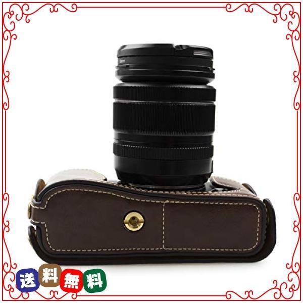 kinokoo FUJIFILM 富士フイルム X-E1 X-E2専用オープナブルタイプ ボディケース バッテリーの交換でき(コーヒー)|diva2|04