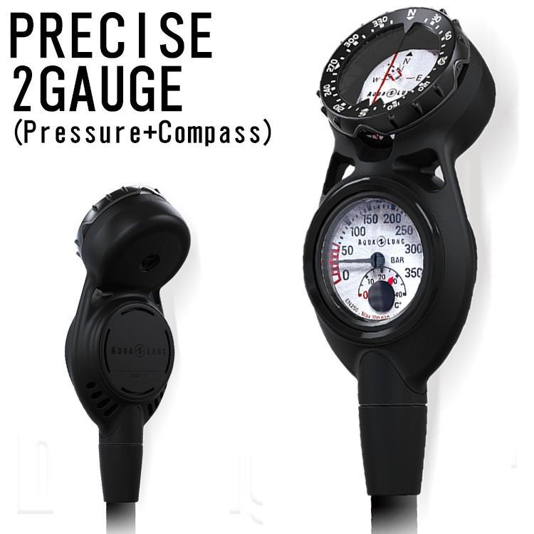 AQUA LUNG(アクアラング) PRECISE 2 GAUGE COMPASS プレシス2ゲージ コンパスタイプ (残圧計+コンパス)
