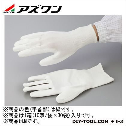 アズワン PUクール手袋オーバーロック 大箱 M 2-2131-53 1箱(10双/袋×30袋入)