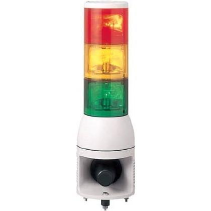 デジタル アローシリーズ赤黄緑φ100積層式電球回転灯+電子音(4音) UTKAM-24-3RYG