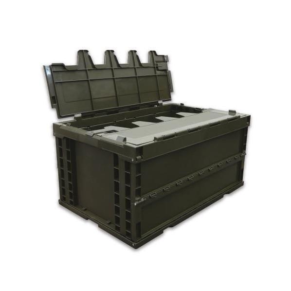 エスコ 折りたたみ式コンテナ ODグリーン 75.9L EA506AA-7E 5個