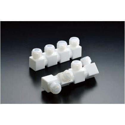 フロンケミカル フッ素樹脂フレキシブル多連ホルダー三連式8パイ NR1656-002