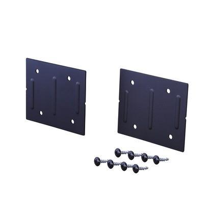 LABRICO(ラブリコ) ジョイント アイアン ブラック 幅8.6×奥行0.3×高さ7cm IXK-4 1|diy-tool