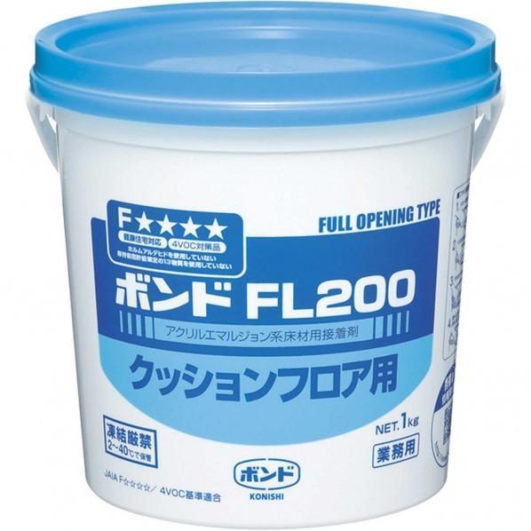 コニシ ボンドFL200クッションフロア用接着剤 1kg #40427 1 :K21-1031:DIY ...