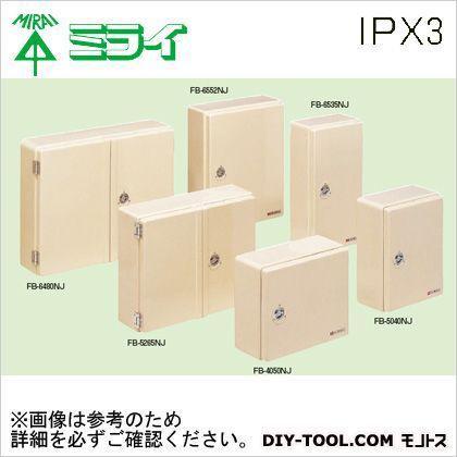 未来工業 強化ボックス(FRP樹脂製防雨常設ボックス)屋根無〈ヨコ型〉 FB-6480NJ