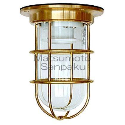 松本船舶 マリンランプ デッキライトシリーズ NEWデッキ ランプ無モデル ゴールド 幅125mm高185mm NW-DK-G