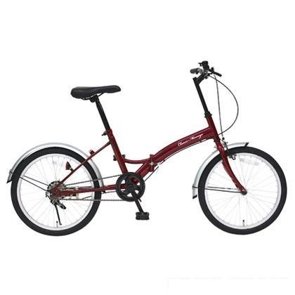 Classic Mimugo 折りたたみ自転車20インチ クラシックレッド (組立時)152.5×58×95cm MG-CM20E FDB20E