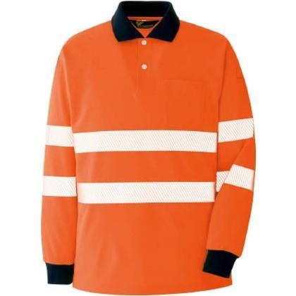 ミドリ安全 高視認長袖ポロシャツオレンジS VES 2355-UE-S