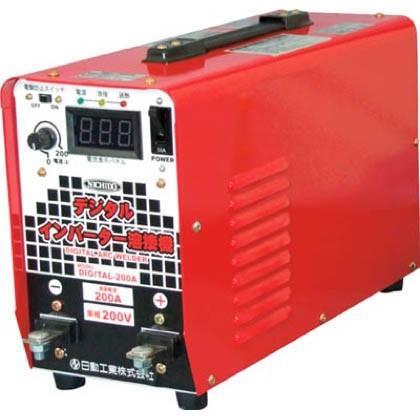 日動 直流溶接機デジタルインバータ溶接機単相200V専用 500 x 210 x 300 mm DIGITAL-200A