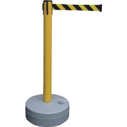 緑十字 BRS-YB バリアースタンド(スタート+キャッチ)ポール:黄ベルト:黄/黒 968 x 482 x 140 mm 368012