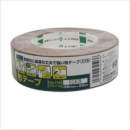 オカモト 布テープ クリーム 38mm×25M #112