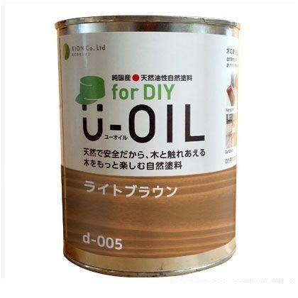 シオン U-OILforDIY天然油性国産塗料 ライトブラウン 2.5L d-005-4