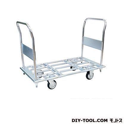 シシク パイプ材仕様運搬台車(スチール製、ハンドル両袖固定) 荷台サイズ:590×1350mm PC3-B PC3-B PC3-B d23