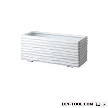 トーシンコーポレーション ウェーブ(モダンタイププランター) ホワイト ホワイト ホワイト W420×D420×H420 WAV-440-WH ef3