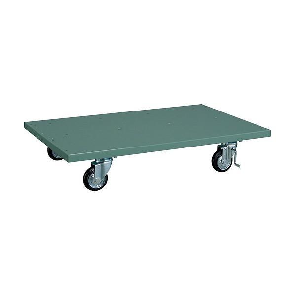 トラスコ(TRUSCO) パネルコンテナラック用兼用キャスターベース緑 GN 920 x 620 x 195 mm mm mm T-1200K 860