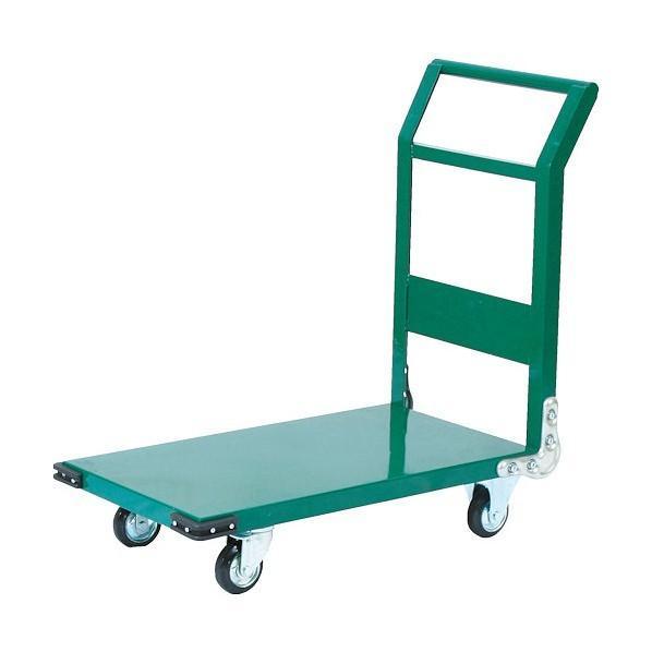 トラスコ(TRUSCO) 鋼鉄製運搬車1400X750Φ200プレス車緑 GN SH1LN SH1LN SH1LN 0dd