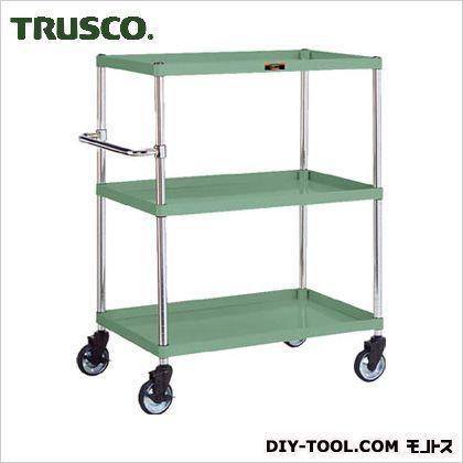 トラスコ(TRUSCO) フレックスワゴン3段 緑  200kg 900×600H1200 FLW933S