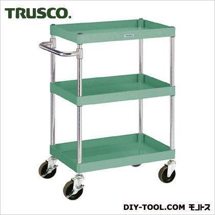 トラスコ(TRUSCO) フレックスワゴン3段 緑  100kg 600×400H880 FLW813S