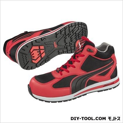PUMA SAFETY フルツイスト・・ミッド 作業用靴 レッド 27.0cm 63.201.0 0足|diy-tool