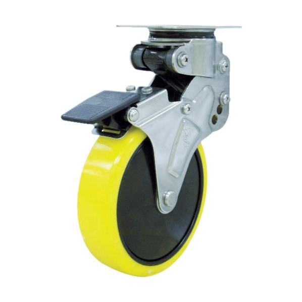 ユーエイ 緩衝キャスターS付自在車帯電防止ウレタン車輪 125径 125径 125径 NPG125SUES2 836