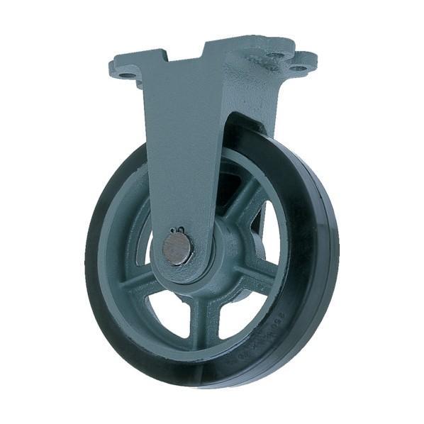ヨドノ 鋳物重荷重用ゴム車輪固定車付きHBーk410X75 HB-K410X75