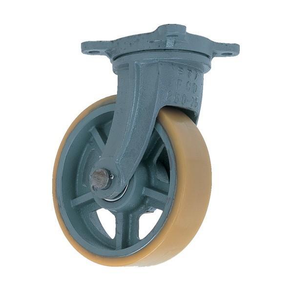 ヨドノ 鋳物重荷重用ウレタン車輪自在車付きUHBーg410X100 UHB-G410X100