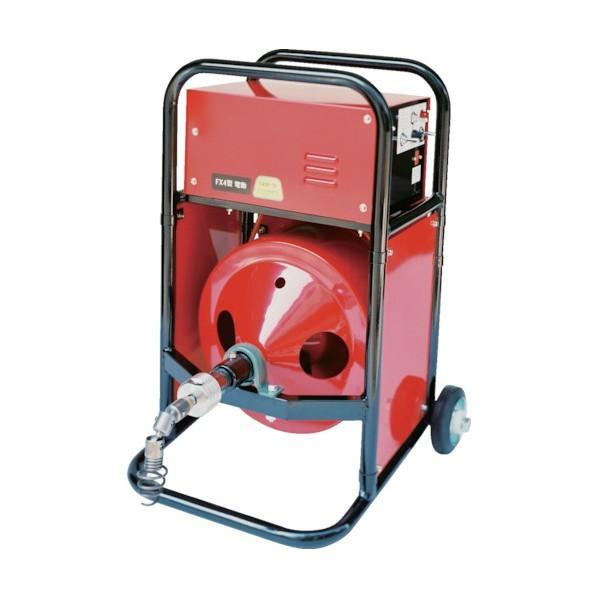 ヤスダ 排水管掃除機FX4型電動12mm×6m FX4-12-6