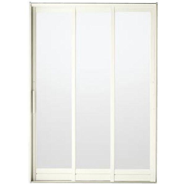 BF浴室3枚引戸(引き戸) 枠付 プレートハンドルタイプ 樹脂パネル 13-20 W1320H2030 LIXIL/リクシル アルミサッシ