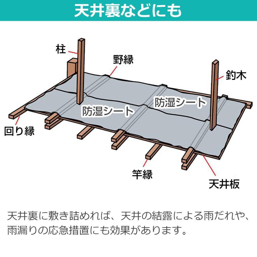 天井裏などにも 天井裏に敷き詰めれば、天井の結露による雨だれや、雨漏りの応急措置にも効果があります。